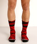 Cell Block 13 Foxhole Camo Knee Socks Red, view 2