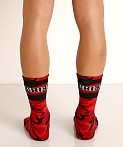 Cell Block 13 Foxhole Camo Knee Socks Red, view 4