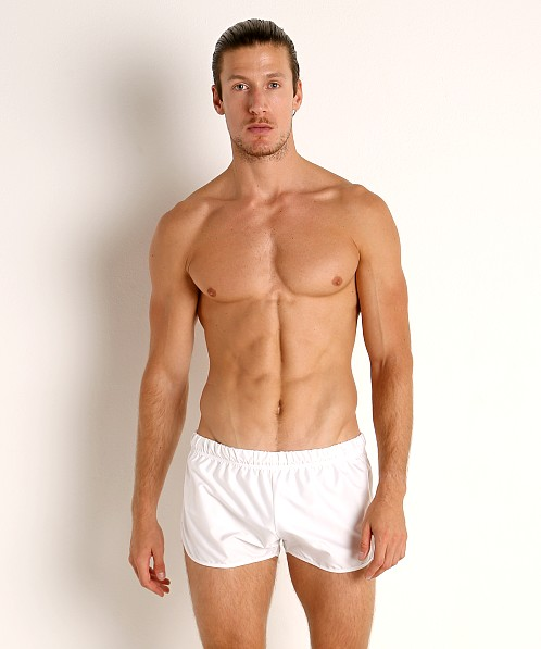 McKillop Drip Bolton Poly Swim and Gym Shorts White