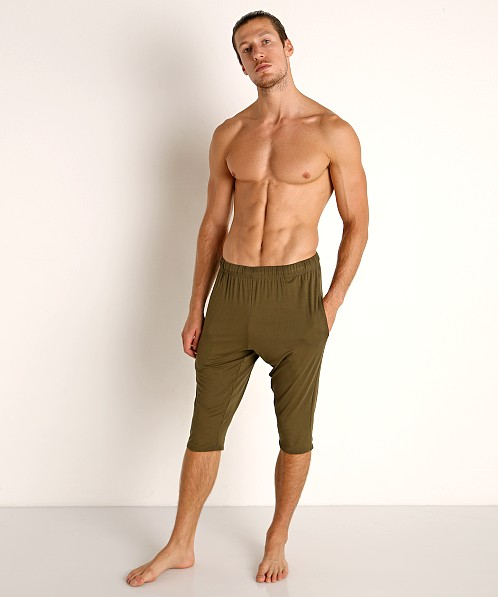McKillop Modal Sliders Sports and Lounge Shorts Army