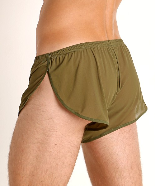 McKillop Ultra Stretch Mesh Running Shorts Army
