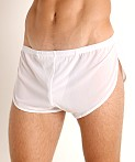 McKillop Ultra Stretch Mesh Running Shorts White, view 3