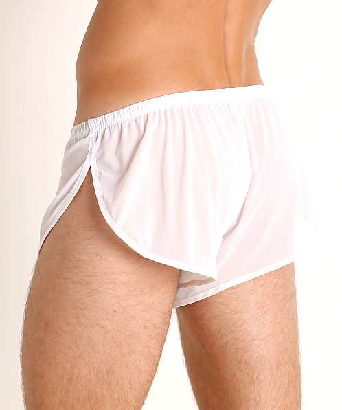 McKillop Ultra Stretch Mesh Running Shorts White