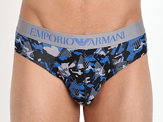 Emporio Armani Camo Eagle Brief China Blue