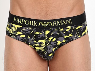 Emporio Armani Camo Eagle Brief Lemon
