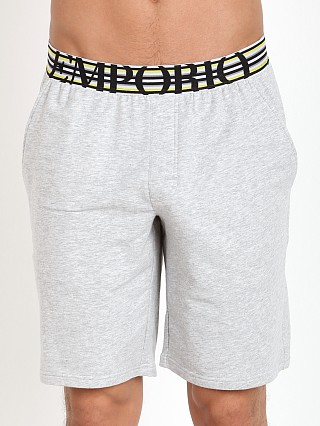 Emporio Armani French Terry Bermuda Shorts Melange Grey