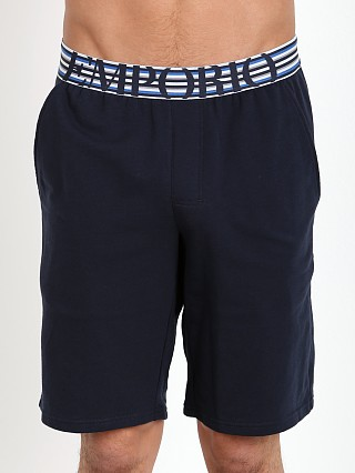 Emporio Armani French Terry Bermuda Shorts Marine