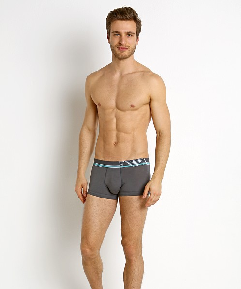 Emporio Armani Pop Stripes Trunk Anthracite Grey