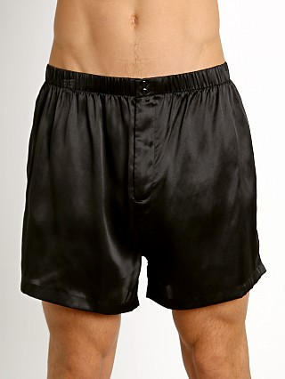 Magic Silk 100% Luxury Charmeuse Silk Boxer Black
