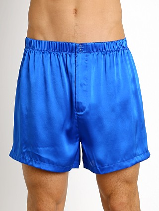 Magic Silk 100% Luxury Charmeuse Silk Boxer Cobalt