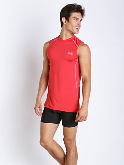 Under Armour Raid Mesh Insert Sleeveless Tee Red/Steel