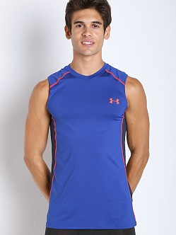 Under Armour Raid Mesh Insert Sleeveless Tee Cobalt/Academy