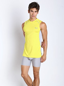 Under Armour Raid Mesh Insert Sleeveless Tee Sunbleached/Steel