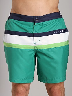 Hugo Boss Flagfish Swim Boxer Green