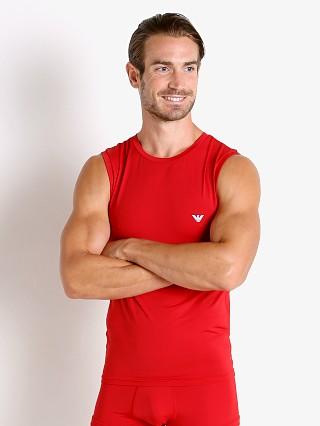 Complete the look: Emporio Armani Mesh Microfiber Tank Top Poppy