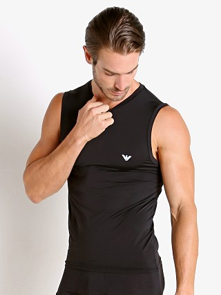 Complete the look: Emporio Armani Mesh Microfiber Tank Top Black
