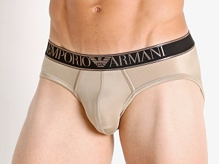 You may also like: Emporio Armani Shiny Microfiber Brief Bronze