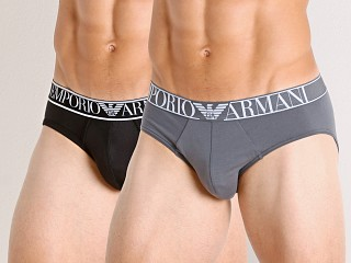 You may also like: Emporio Armani Endurance Briefs 2-Pack Anthracite/Black