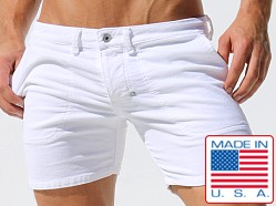 Rufskin Colby Stretch Corduroy Shorts White