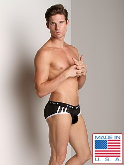 American Jock Mesh Sport Brief Black/White