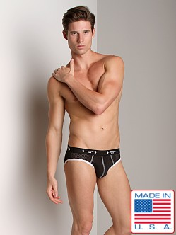 American Jock Mesh Backless Brief Black/White