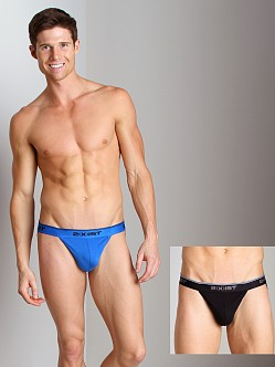 2xist Stretch Jock Straps 2-Pack Black/Skydiver