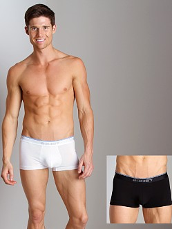 2xist Stretch No-Show Trunks 2-Pack Black/White