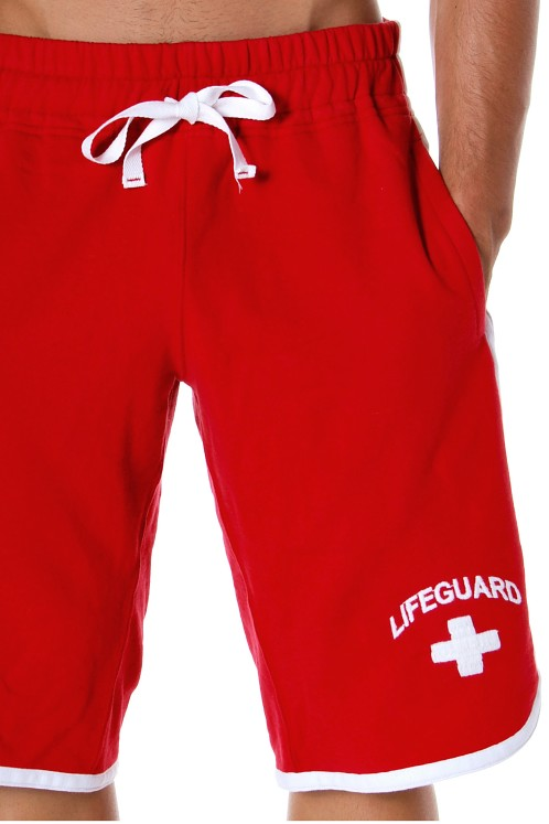 Andrew Christian Classic Lifeguard Shorts Red