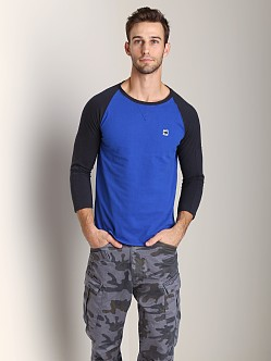 G-Star Navy R T 3/4 Sleeve Shirt Hudson Blue