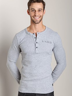 G-Star Grenville Combat Waffle R T Long Sleeve Shirt Grey Htr