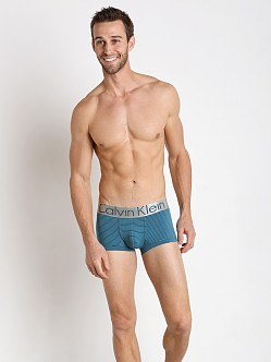Calvin Klein Steel Micro Low Rise Trunk Gulf/Blue Coral Stripe