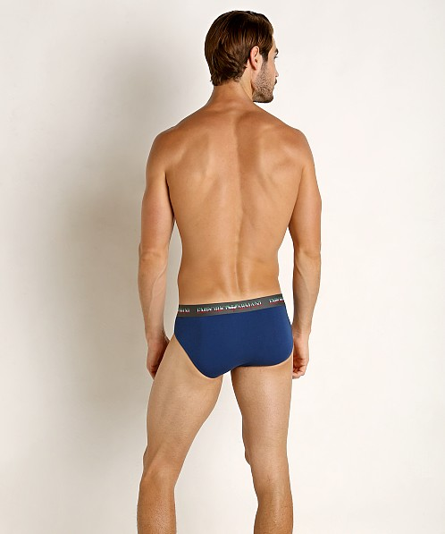 Emporio Armani Italian Flag Brief Blue