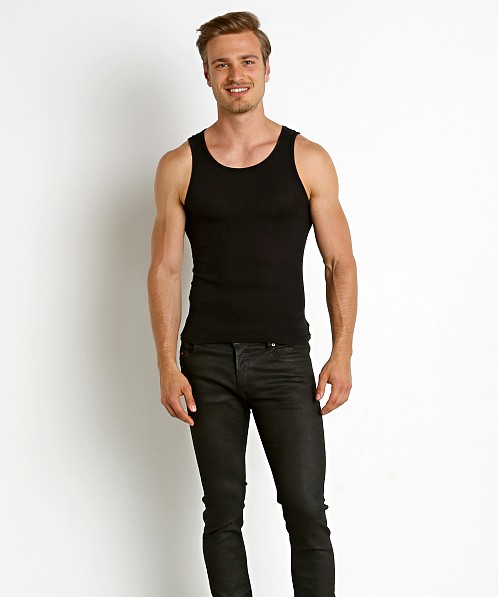 LASC Ribbed Tank Top Black