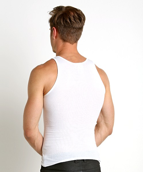 LASC Ribbed Tank Top White