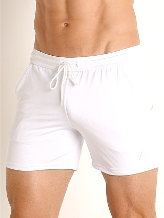 Complete the look: LASC Pique Mesh Performance Workout Short White