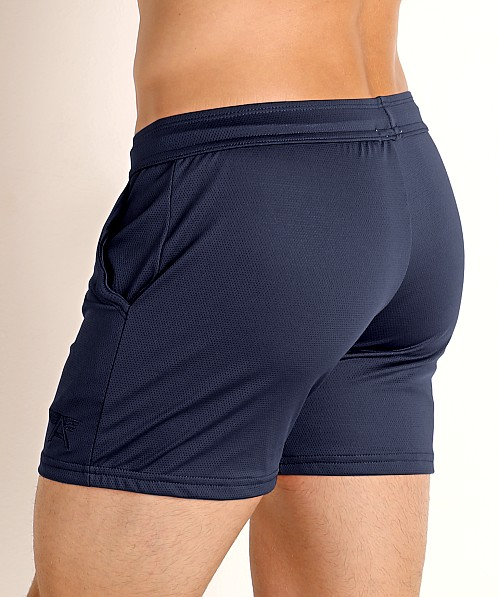 LASC Pique Mesh Performance Workout Short Navy