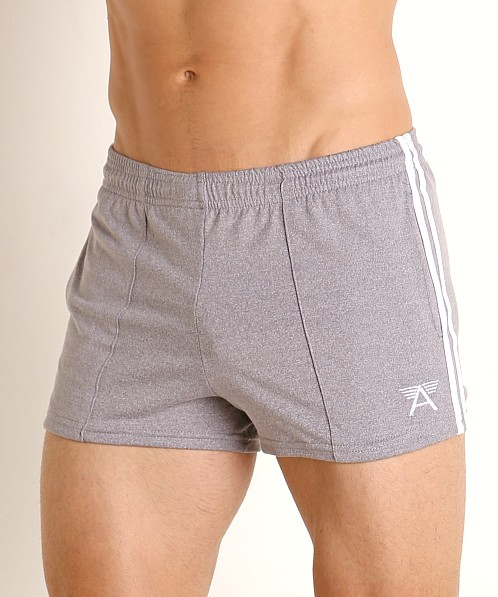 LASC Performance Gymnast Short Heather Grey/White
