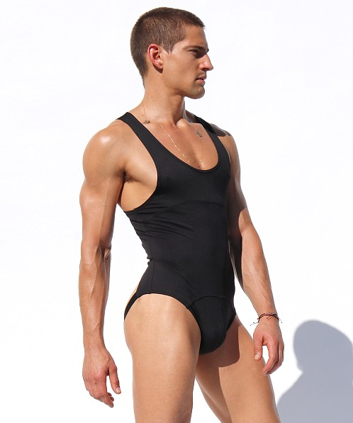 Rufskin In Motion Valentin Stretch Jockstrap Bodysuit Black