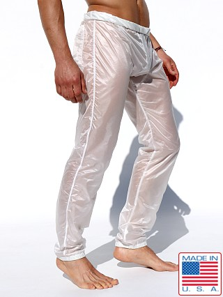 Ruskin In Motion Roll-Down Nylon Warmup Pants White