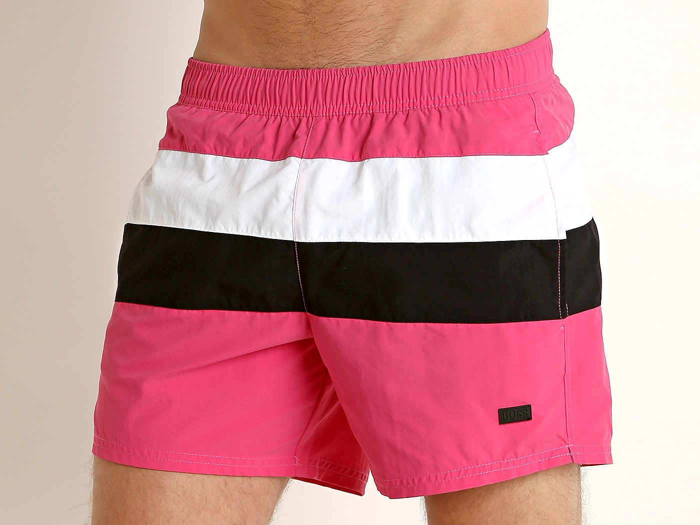 9d07a7fe Hugo Boss Filefish Swim Shorts Pink/White 50407663-691 at International Jock