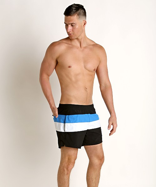 0601daf6 Hugo Boss Filefish Swim Shorts Black/Blue 50407663-061 at International Jock