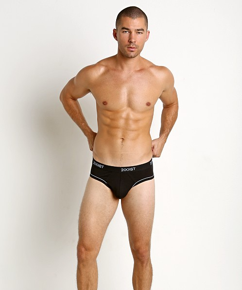 2xist Graphic Cotton No-Show Brief Black