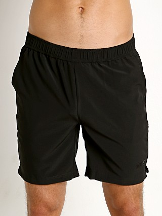 Model in black w/ black mesh 2xist Military Sport Short Black