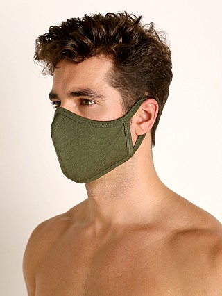 Complete the look: LASC Stretch Cotton Face Mask Army Green