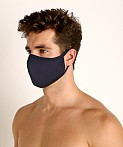 LASC Stretch Cotton Face Mask Navy, view 1
