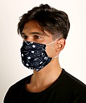 LASC Fashion Face Mask Bandana Print Black, view 1
