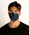 LASC Fashion Face Mask Bandana Print Black, view 2