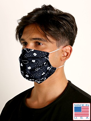 LASC Fashion Face Mask Bandana Print Black