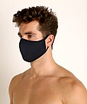 LASC Stretch Cotton Face Mask Black, view 1
