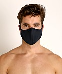 LASC Stretch Cotton Face Mask Black, view 2